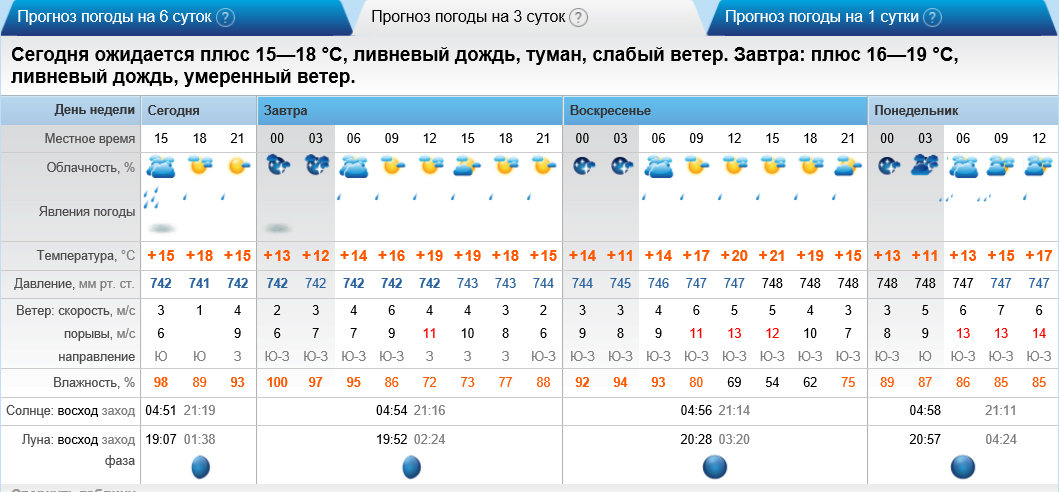 погода в борчаниново на завтра